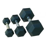 Комплект гантелей JOHNS 72014/22,5-30 гексагональных обрезиненных, фото 1