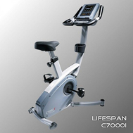 Велотренажёр электромагнитный (велоэргометр) LIFESPAN C7000i, вертикальный, фото 1