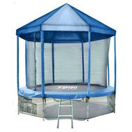 Большой батут с защитной от дождя крышей - OPTIFIT LIKE 14FTЮ сетка, лестница в комплекте, фото 1
