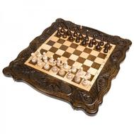 Шахматы + нарды резные Корона 50, Haleyan, фото 1