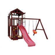 Детская уличная площадка - IGRAGRAD CLASSIC ПАНДА ФАНИ FORT, лестница, горка, песочница, качели, фото 1