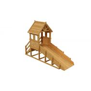 Зимняя деревянная заливная горка ВЫШЕ ВСЕХ ТЕРЕМОК (пропитка), фото 1