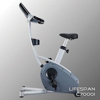 Велотренажёр электромагнитный (велоэргометр) LIFESPAN C7000i, вертикальный, фото 6